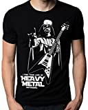 The Nakin Funny Star Wars I Find Your Lack Of Heavy Metal Flying V Guitar T-Shirt X-Large Black