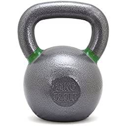 New Onefitwonder Solid Cast Iron Kettlebell Weight for Crossfit Training Strength Training Gym Exercise Superior Grip 24 Kg / 52 Lb