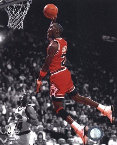 Michael Jordan 1990 Spotlight Action Glossy Photograph Photo Print