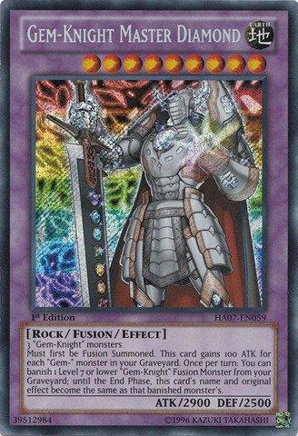 Yu-Gi-Oh! - Gem-Knight Master Diamond (HA07-EN059) - Hidden Arsenal 7: Knight of Stars - 1st Edition - Secret Rare (Gem Knights compare prices)