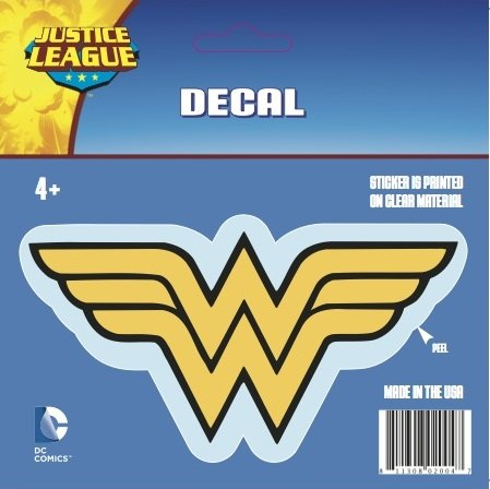 DC Comics ST WW LOGO001 Car Window Decal (Justice League Logos Wonder Woman Logo Standard Multicolor) (Window Decals For Women compare prices)