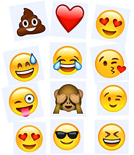 144-Temporary-Emoji-Tattoos-12-different-characters-4Es-Novelty