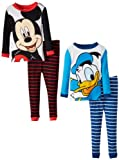 Disney Little Boys' Mickey And Donald 4 Piece Pajama Set