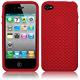 IPHONE 4 / IPHONE 4G WEAVE DESIGN SILICONE SKIN / CASE / SHELL / COVER - REDby TERRAPIN