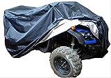ATV バギー ボディー カバー トライク 大型 バイク 選べる 色 大きさ (ブラック, XL)