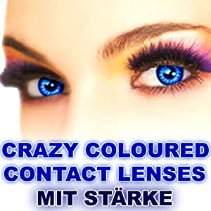 3 monate farbige kontaktlinsen mit st rke blau amazon. Black Bedroom Furniture Sets. Home Design Ideas
