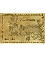 Game Of Thrones - Antique Map 61 x 91 cm Affiche