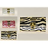 Ladies New Beautiful Gold/Black Animal Prints Wallet/Purse Comes With Presentation Gift Box. Available in Gold/Black, White/Silver and Fuchsia/Pink Colour.by Lady Isla Fashion