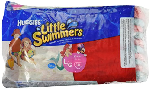 Huggies Little Swimmers Disposable Swimpants, Large, 10 Count
