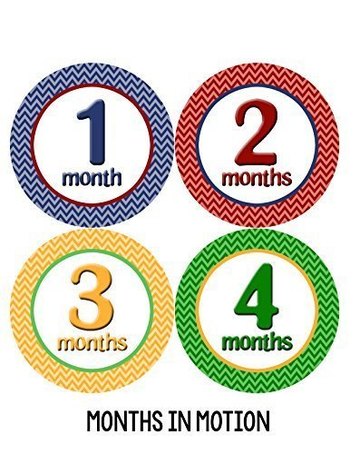 Months in Motion 011 Monthly Baby Stickers Baby Boy Milestone Age Sticker Photo