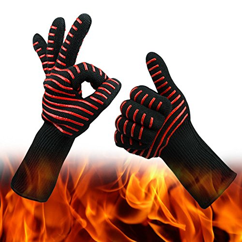 Buy Bargain CoolingTech BBQ Gloves Grilling Cooking Gloves 932°F Extreme Cut & Heat Resistant G...