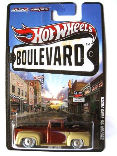 Hot Wheels Boulevard Ford Pick Up Truck 1956 Custom beige-braunmetallic 1:64