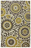 STAINMASTER Medallions Area Rug, 8 by 10-Feet, Gray/Gold