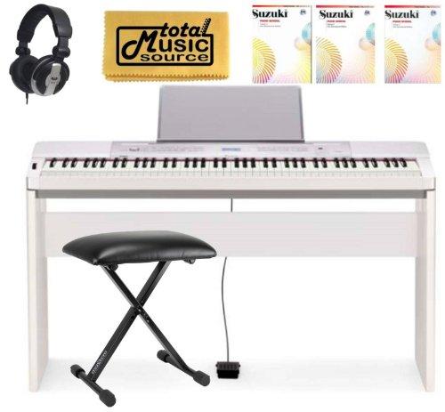 Casio Privia Px350 We 88 Note Digital Piano Keyboard Complete Home Bundle