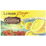 Celestial Seasonings Herb Tea, Lemon Zinger, 20-Count Tea Bags (Pack of 6)