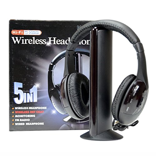 Sunydeal Wireless Headphones Cordless RF 5 in 1 Headset With