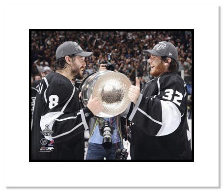 Drew Doughty & Jonathan Quick Los Angeles Kings NHL Double Matted 8x10 Photograph Holding Stanley Cup
