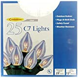 Celebrations Lighting Indoor/Outdoor 25 C7 String Light Set, Clear Bulbs