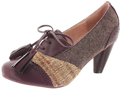 Dancing Days, Scarpe col tacco donna, multicolore (Lilac Tweed), 38 EU