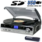 Steepletone Record Player Turntable +...