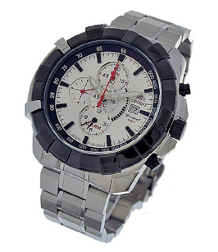 ORIENT Herren Uhr Chronograph Alarm FTD10002W0 (3110)