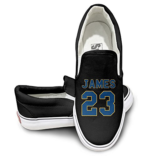 Deamoon Super Basketball Player #23 Activewear Unisex Flat Canvas Shoes Sneaker Black 38 (Gold Medal Kd 7 compare prices)