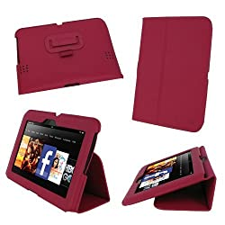 rooCASE Amazon Kindle Fire HD 7 Case - Ultra Slim Stand Tablet Case - MAGENTA (Previous Generation 2012)