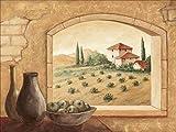 Poster Kunstdruck oder Leinwand-Bild-Druck Artland Wandbild fertig aufgespannt auf Keilrahmen Andres Toskana in verschiedenen Größen und Farben erhältlich
