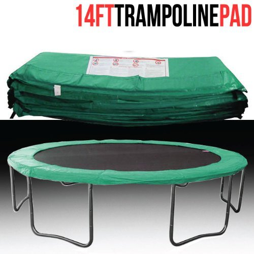 14 Ft Trampoline Safety Pad Epe Foam Spring: 14' FT Vinyl Trampoline Safety Pad Spring Cover Green
