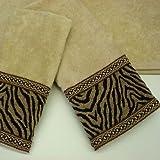Pacific Coast SK52-283296 Sherry Kline Zebra 3-piece Decorative Towel