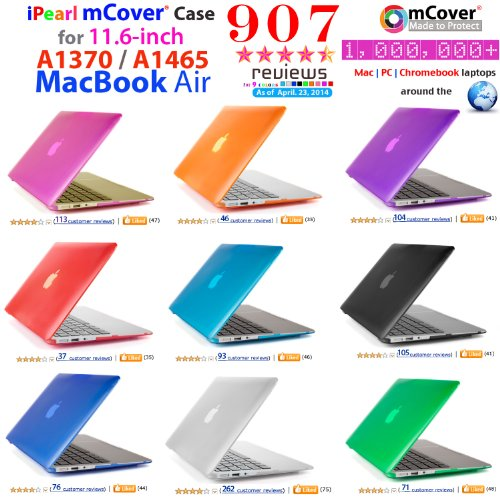 iPearl mCover Hard Shell Cover Case For 11.6-inch Apple MacBook Air A1370 & A1465 - CLEAR