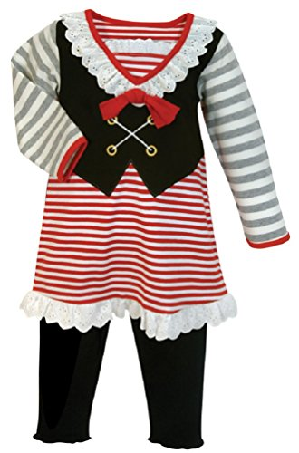 Stephan Baby Toddler Girl Pirate Outfit / Halloween Costume (12-18m)