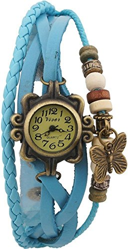 Xeno Butterfly Vintage Turquoise Women's Analog Watch