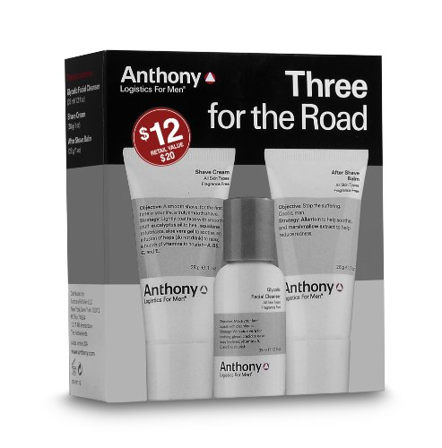 Anthony Logistics for Men Three for the Road Travel Shave Kit