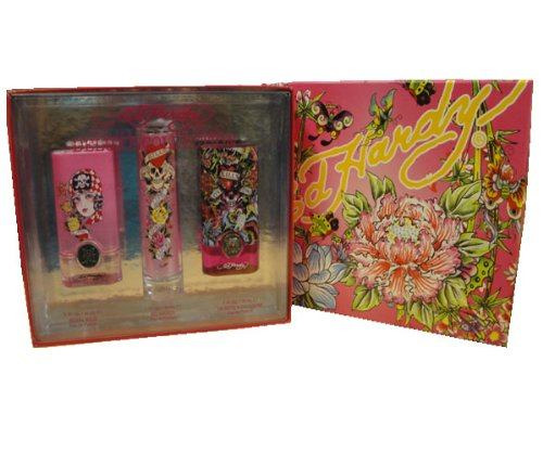 Ed Hardy Trio Set (1.0 Oz Ed Hardy Spray, 1.0 Oz Hearts And Daggers Spray, 1.0 Oz Born Wild Spray)