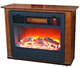 LIFESMART Quakerstown Dark Oak 1500 Square Foot E-Z Set Infrared Fireplace