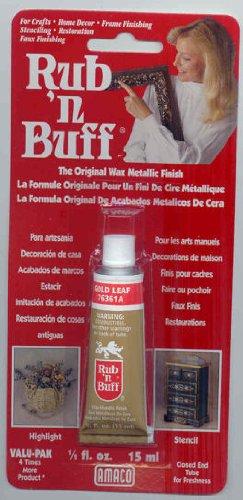 AMACO Rub 'n Buff Wax Metallic Finish, Gold Leaf, 0.05-Fluid Ounce