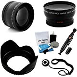 52mm Essential Lens Kit For Select Pentax Digital Cameras. Bundle Includes: 2x Telephoto Lens 0.45x HD Wide Angle Lens With Macro Flower Tulip Lens Hood And UltraPro Accessory Set