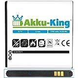 Akku-King Akku für Samsung Galaxy S Advance GT-i9070, i9070P - ersetzt EB535151VU - Li-Ion 1700mAh