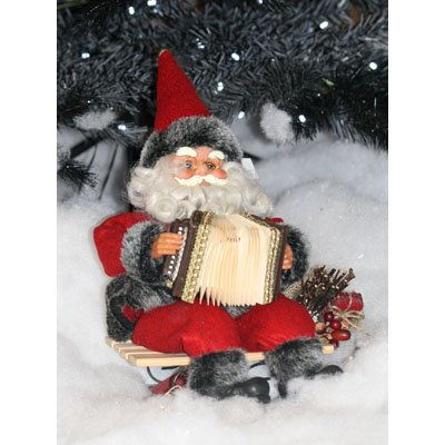 PW Christmas Decoration Animated musical Santa on sleigh