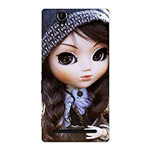 Gorgeous Sweet Angel Doll Multicolor Back Case Cover for Sony Xperia T2