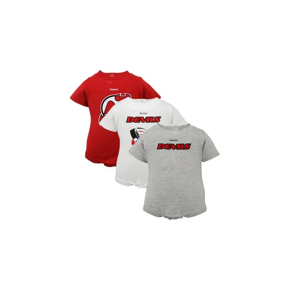 1d7bef07ce3a0 New Jersey Devils Infant Baby 3pc Onesie Creeper 0 3 Month on PopScreen