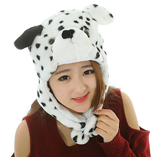 Dalmation Dog_Pom-Pom Winter Animal Hat Fashion Cap Animal Plush Fluffy Warm 100% Polyester (US Seller)