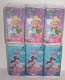 2 Packages of Disney Fairies Kids Size Pocket Tissues Kleenex - Tinker Bell