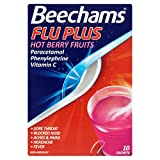 6 x Beechams Flu Plus Hot Berry Fruits 10 Sachets