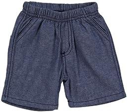 Charlie Rocket Chambrey Shorts (Baby) - Blue-3-6 Months