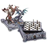 Dragon And Knight Medieval Chess Board Game Set Decor [Toy]