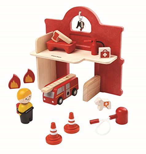 PlanToys Double-Sided Fire Station