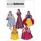 Butterick Patterns B4320 Children's/Girls' Costume, Size CHILD (2-3) (4-5)
