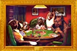 Dogs Playing Poker Humor Poster Print, 36x24